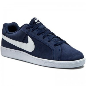 Nike Schuhe Court Royale Suede 819802 410 Midnight Navy/White