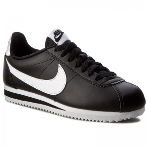 Nike Schuhe Classic Cortez Leather 807471 010 Black/White/White