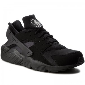Nike Schuhe Air Huarache 318429 003 Black/Black/White