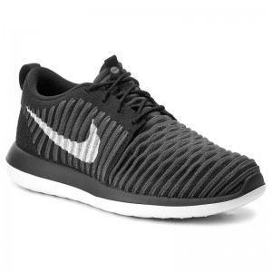 Nike Schuhe Roshe Two Flyknit (GS) 844619 001 Black/White/Anthracite/Drk Gry