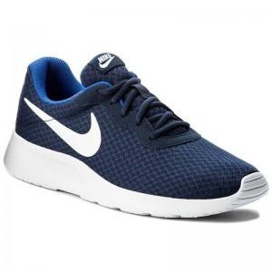 Nike Schuhe Tanjun 812654 414 Midnight Navy/White Game Royal