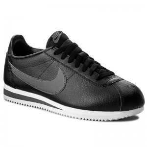 Nike Schuhe Classic Cortez Leather 749571 011 Black/Dark Grey/White