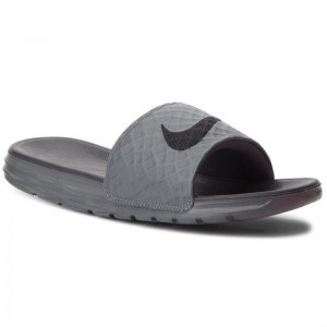 Nike Pantoletten Benassi Solarsoft 705474 090 Dark Grey/Black