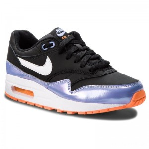 Nike Schuhe Air Max 1 (GS) 807605 003 Black/White/Twilight Pulse
