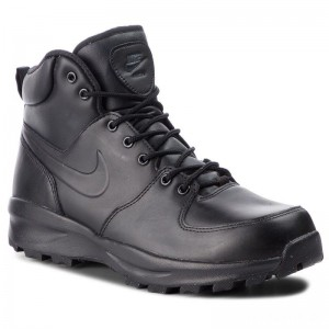 Nike Schuhe Manoa Leather 454350 003 Black/Black/Black