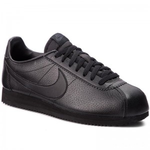 Nike Schuhe Classic Cortez Leather 749571 002 Black/Black/Anthracite