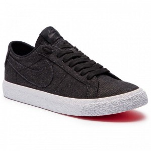 Nike Schuhe Sb Zoom Blazer Low Cnvs Decon AH3370 001 Black/Black Anthracite