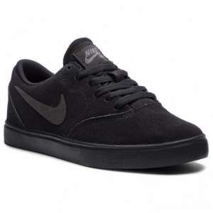 Nike Schuhe Sb Check Suede (GS) AR0132 001 Black/Black Anthracite