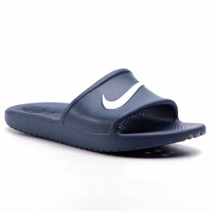 Nike Pantoletten Kawa Shower (GS/PS) BQ6831 401 Navy/White
