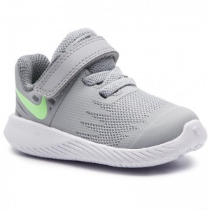 Nike Schuhe Star Runner (TDV) 907255 008 Wolf Grey/Lime Blast/Cool Grey