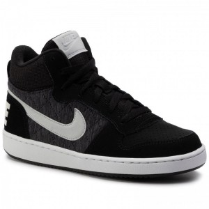 Nike Schuhe Court Borough Mid Se (Gs) 918340 007 Black/Piure Platinum/Cool Grey