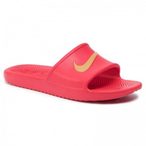 Nike Pantoletten Kawa Shower 832528 602 Univeristy Red/Metallic Gold