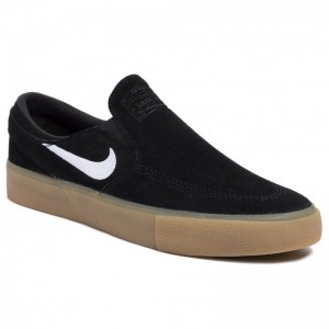 Nike Schuhe Sb Zoom Janoski Slip Rm AT8899 001 Black/White/Black