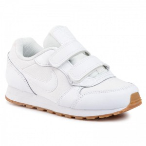 Nike Schuhe Md Runner 2 Flrl (Psv) CD9466 100 White/White/Gum Light Brown