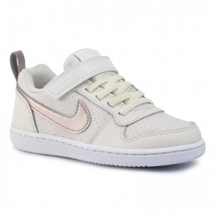 Nike Schuhe Court Borough Low (Psv) 870028 007 Mtlc Red Bronze/White