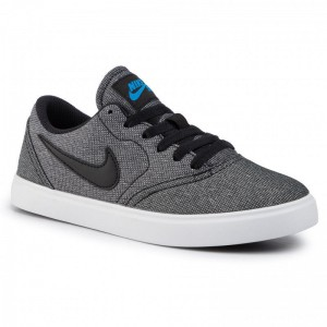 Nike Schuhe Sb Check Cnvs (Gs) 905373 008 Black/Black/White/Photo Blue