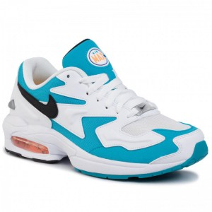 Nike Schuhe Air Max2 Light AO1741 100 White/Black/Blue Lagoon