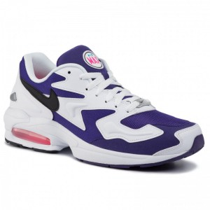 Nike Schuhe Air Max2 Light AO1741 103 White/Black Court Purple