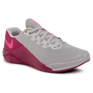 Nike Schuhe Metcon 5 AO2982 061 Atmosphere Grey/True Berry