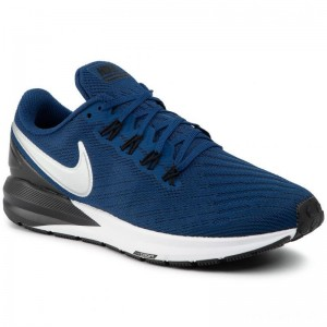 Nike Schuhe Air Zoom Structure 22 AA1636 406 Coastal Blue/Chrome Black
