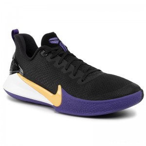 Nike Schuhe Mamba Focus AJ5899 005 Black/Amarillo/Field Purple