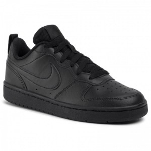 Nike Schuhe Court Borough Low 2 (GS) BQ5448 001 Black/Black/Black